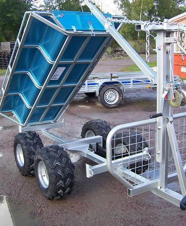 ATV kombivagn KV1500 inkl. radiovinsch