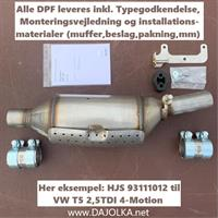 HJS CITY-DPF VW T5 2.5TDI 4motion