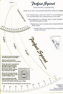 """Spiralmønster til håndquilting 2"""", 3"""" og 4"""""""