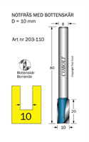 Notfräs D=10, L=20, TL=80mm