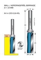 Mallfräs D=14, L=45, TL=95mm