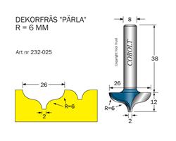 Dekorfräs D=26mm, R=6mm