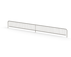 Framkantsgaller plåthylla