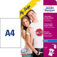 Avery T-shirt transfer Ljus A4