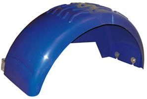 Skärm, plast, B=250 mm (hö/vä), blå