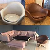 Kul 50-talls stol i ny farge