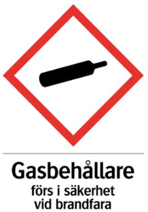 Gasskylt A5 självhäftande
