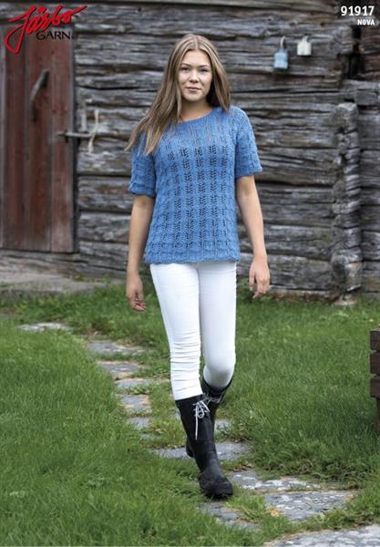 Spetsstickad T-tröja i Nova
