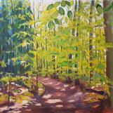 """Bokskog, Omberg"", oil on canvas, 80x100 cm, Christine Friman"