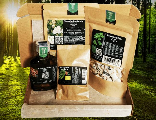 Suolta, pientareelta ja pellolta -lahjasetti