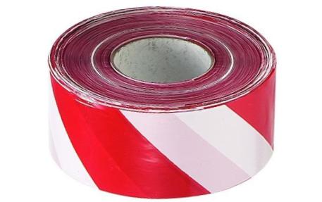 Varningsband Röd/Vit 75x500m