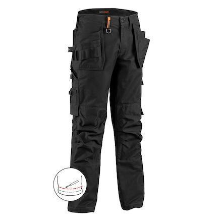 Midjebyxa Worker Pants, Svart Strl. C44
