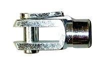 Gaffelhuvud M10, kpl med ES-bult