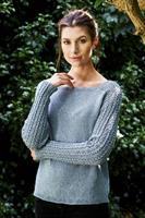 Sweater med mönstrade ärmar i Esther