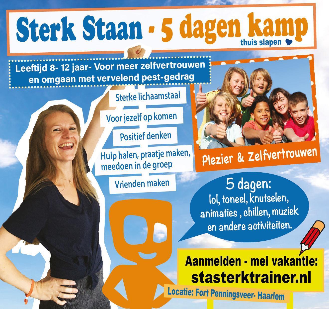 Sta Sterk kamp - mei en zomervakantie - leer omgaan met pesten en krijg meer zelfvertrouwen