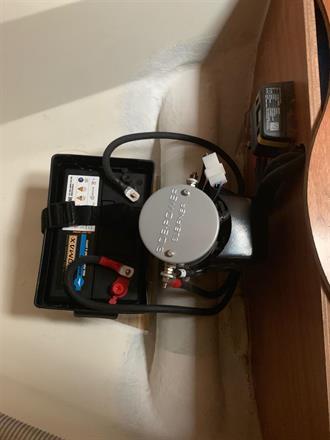Installation av motor och batteri