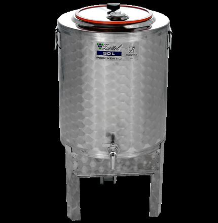 Tank med avtagbare ben, lokk med pakning og skru lås, med gjælås, i størrelse 50 liter på lager. Finnes i flere størrelser.