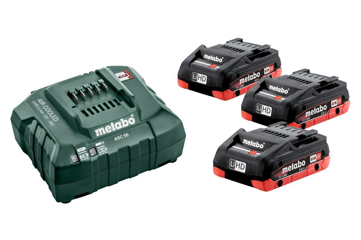 Metabo Batterikit 3st 4Ah LiHD + Laddare