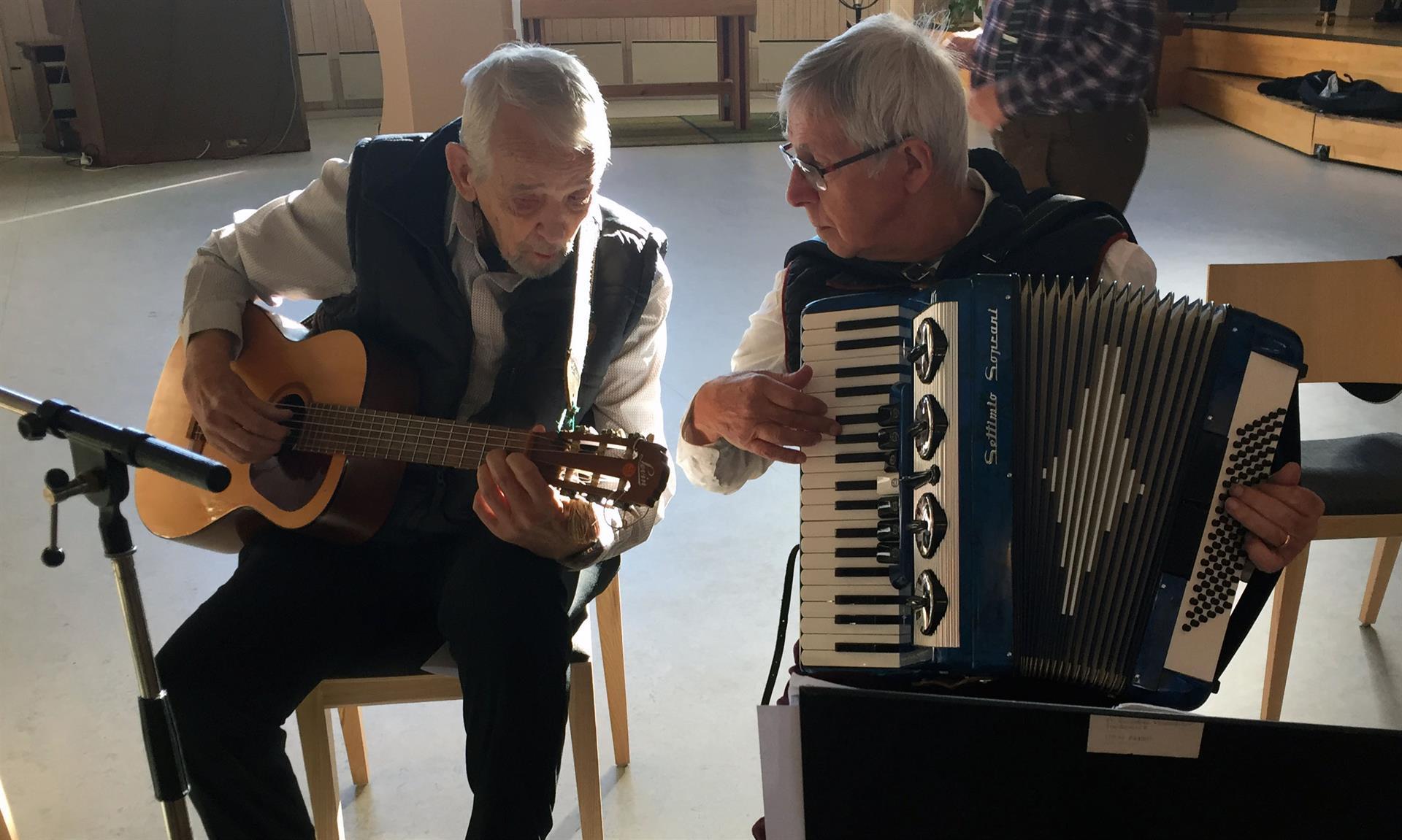 Stenhamra 25 okt 2018. Bengt och Ernst