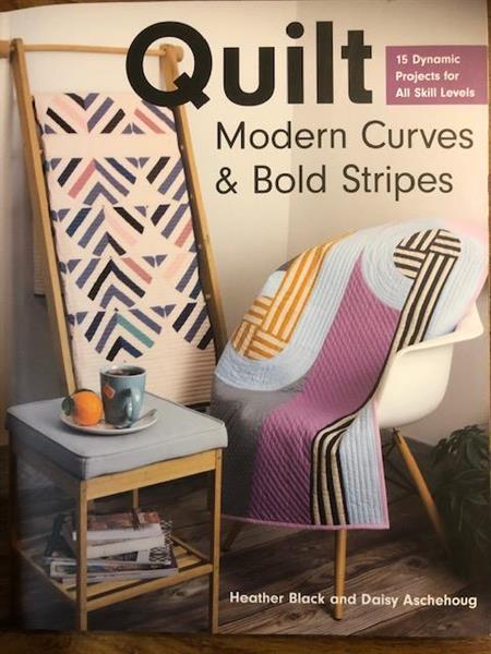 Quilt, Modern Curves & Bold Stripes