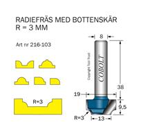Radiefräs R=3, L=9,5