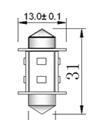 Spollampa SMD8 31mm