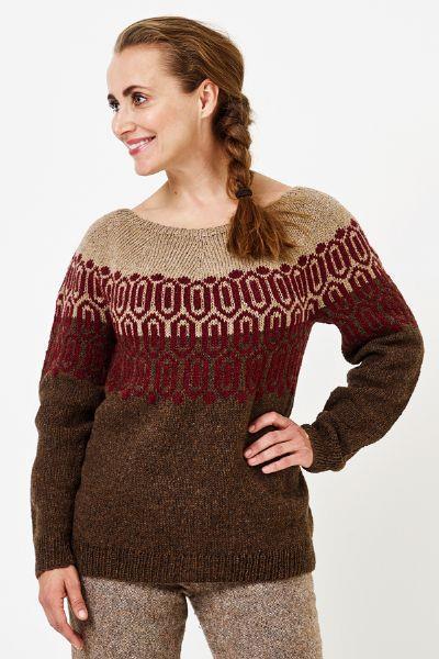 Mönstrad sweater  i Luna