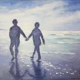 """Motljus"", oil on canvas, 60x75 cm, Christine Friman"