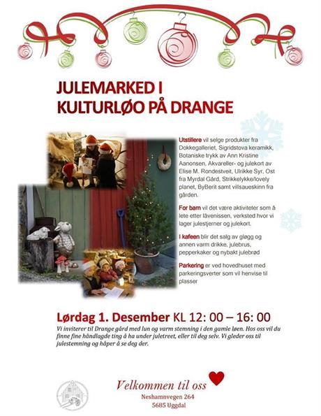 Julemarknad på Drange 2018 laurdag 1. desember