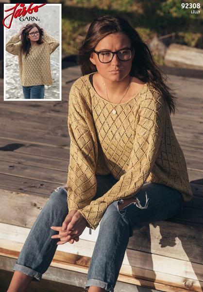 Hålmönstrad oversize tröja i Lilly
