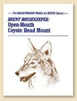 TBT Open Mouth Coyote Head Mount