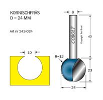 Kornischfräs D=24, R=12, S=8
