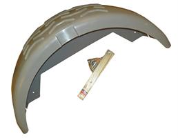 Skärm, plast, B=250 mm (hö/vä), grå