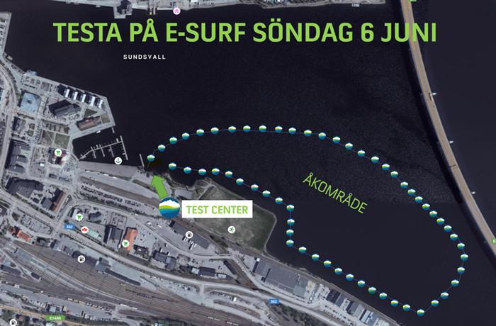 Testa på E-Surf på nationaldagen den 6 Juni i Sundsvall!
