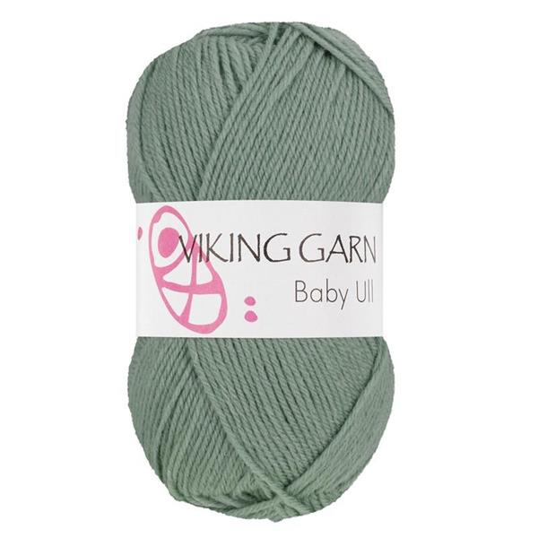 Viking Baby Ull Grågrön
