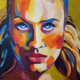 """Lisa"", oil on canvas, 100x100 cm, Christine Friman"