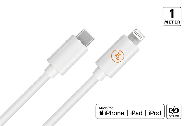 MFi / Apple till Type-C laddkabel Vit 1M