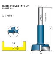 Kvistborr HM D=55, TL=90 S=10
