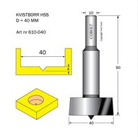 Kvistborr HSS D=40, TL=90