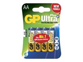 Batteri GP AA Ultra Plus Alkaline 4-p LR6