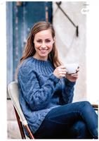 Sweater med bred hals och flätor i Renew Wool
