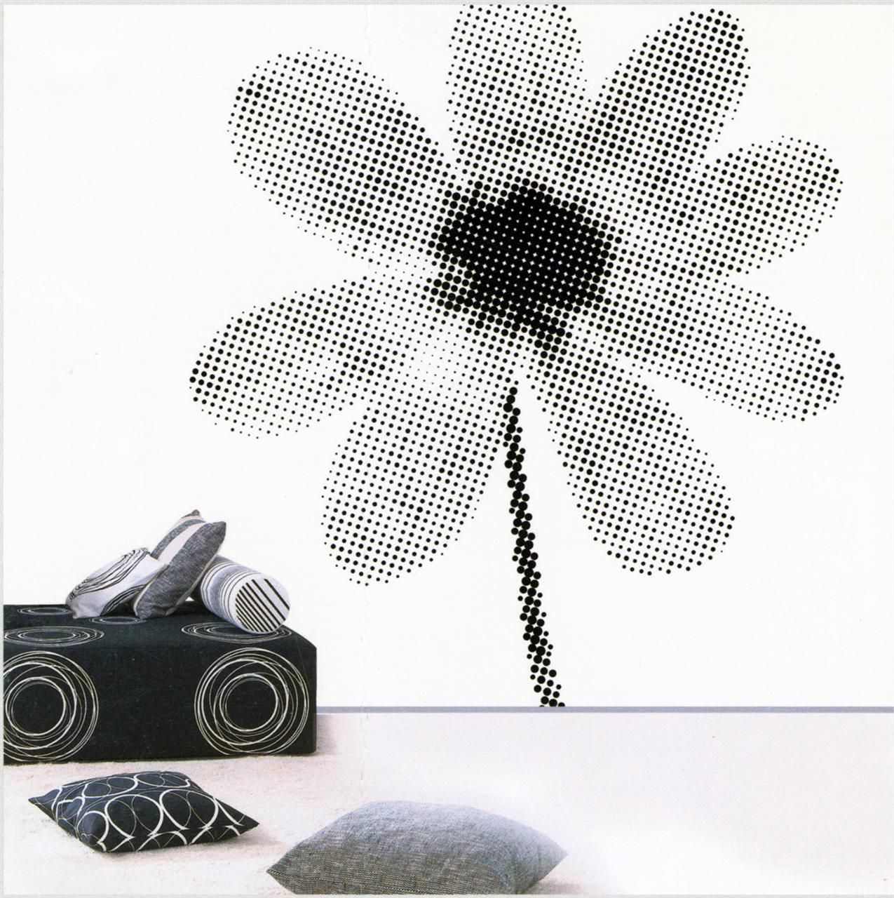Fototap.XXL big flower sv/vit