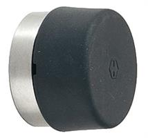 Dørstopper 32 mm rustfri for veggmontering