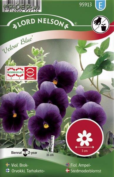 Viol Brok-, Velour Blue