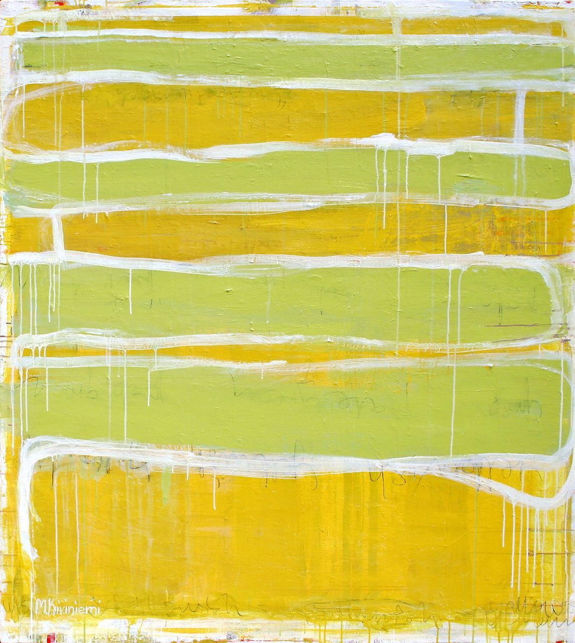 MY YELLOWISH PAINTING 145x130cm 2010