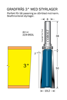 Gradfräs 3° m styrlager M-148