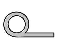 Silikon P-stiftelist 8,0 mm Grå - Løpemeter