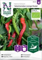 Chilipeppar 'Westlandse Lange Rode' Organic