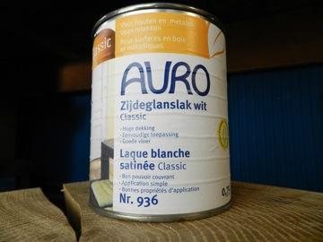 Auro zijdeglanslak wit classic