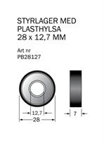 Kullager 28x12,7 med plasthylsa